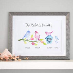 Personalised Birdie Family Art